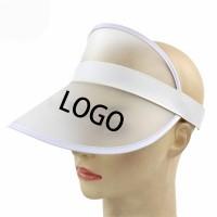 Clear Plastic Sun Visor Hat WPLS075