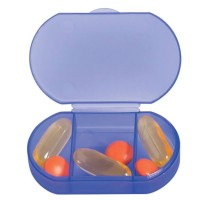 3-Compartment Oval-Shaped Pill Holder WPLS8003