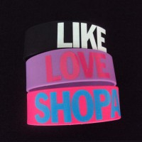 Silicone Bracelet 1inch Printed Wristbands WPSK6005