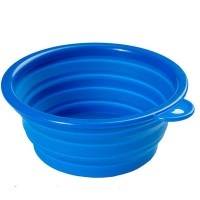 5 1/8″W x  2 1/6″H Collapsible Silicone Pet Bowl WPSL8006